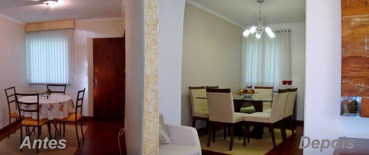 Como atualizar sua Sala de Jantar mudando alguns itens.Nesta Sala de Jantar houve algumas mudanças como pintura na parede,troca de iluminação e substituição de mesa de jantar.