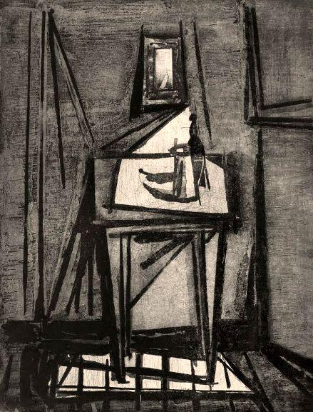 Iberê Camargo, Interior (1956) on ArtStack #ibere-camargo #art