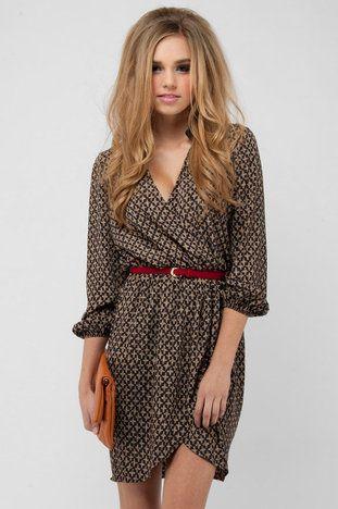 Plus One Dress in Brown $58 at www.tobi.com
