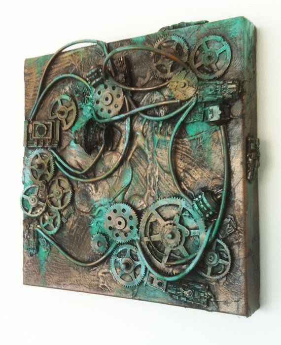 Steam punk wall art 10 x 10 by richardsymonsart on Etsy, $90.00