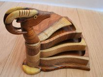 Gazelle Hand-carved snack platter, jewelry tray