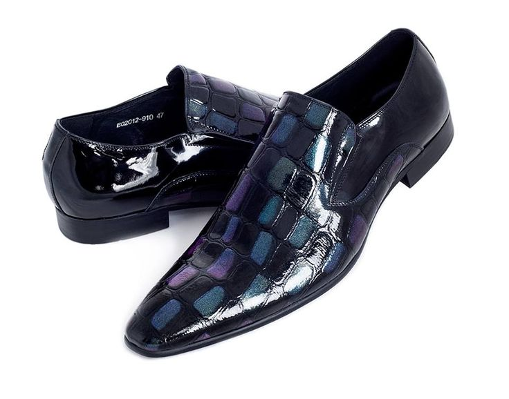 Colour Changing Black Leather Shoes
