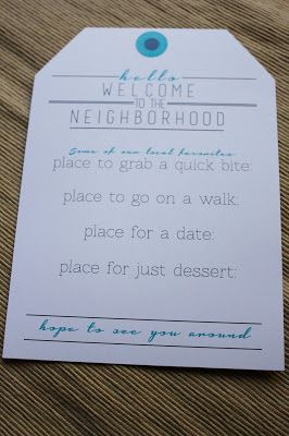 Le Design Welcome to the Neighborhood gift