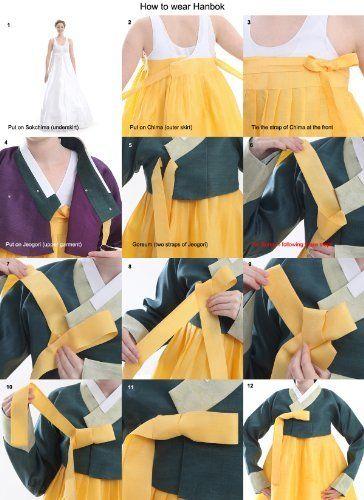 Comment nouer les attaches de la veste hanbok