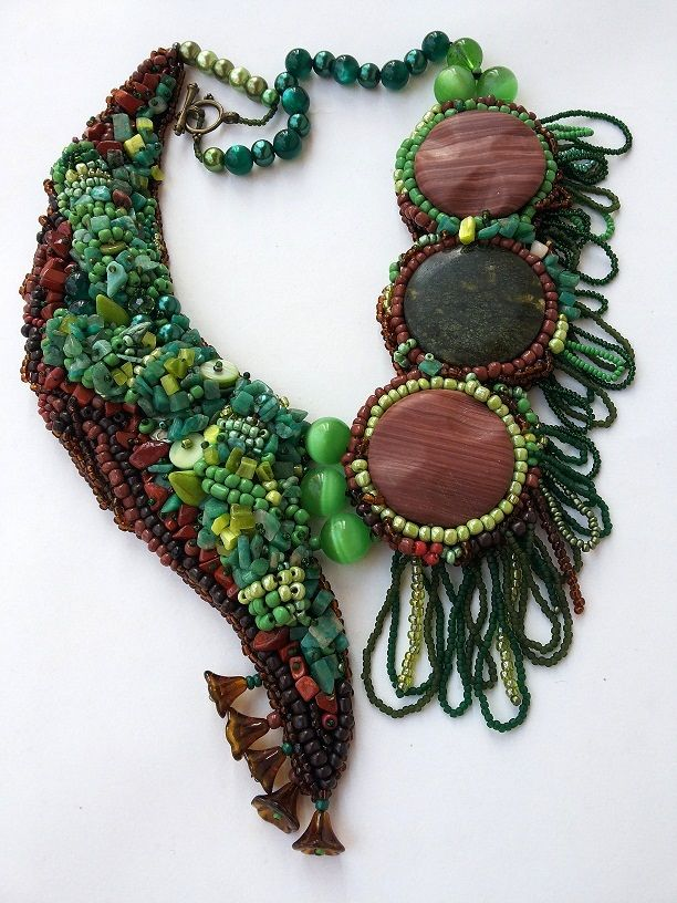 Necklace Green Forrest
