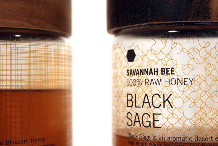#houseofpackaging | Concept Bottles for Savannah Bee Co. Honey. Designed bystudent, Collin Cummings.
