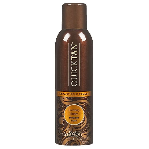 Body Drench Quick Tan Instant Self Tanner gives a natural looking year-round tan. Bronzer lets you see where you've applied the product for even application. $19.99