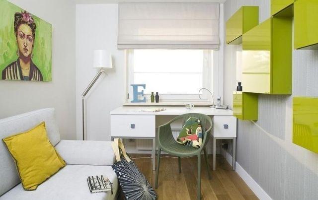 jugendzimmer ideen deko kleiner raum gr n wei. Black Bedroom Furniture Sets. Home Design Ideas
