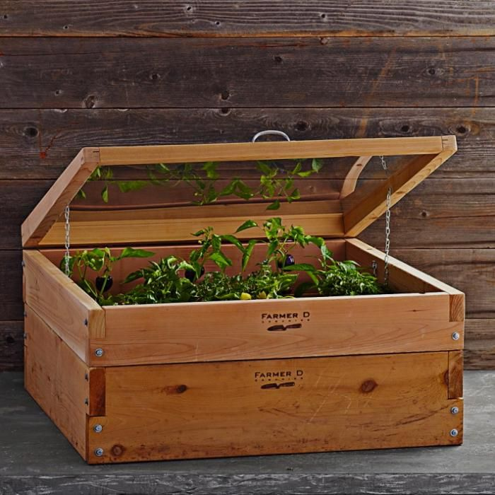 Lovely cold frame! Could you make a similar one from an old crate I wonder?