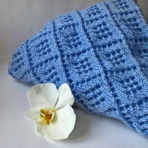 S nádechem fialové- mohérový šátek