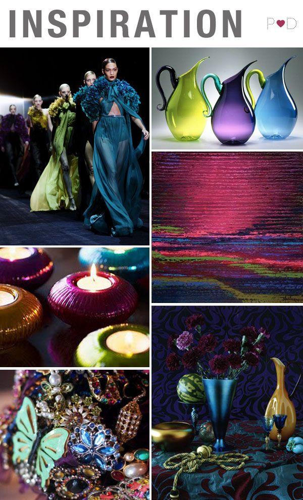 Jewel Tones, Colour, Vibrant, Wedding Inspiration, Wedding Trends Amethyst, Blue, Citrine, Deep Colour, Emerald, Garnet, Green, Inspiration Board, Jewel Tones, mood board, Purple, Red, Ruby, Sapphire, (2)