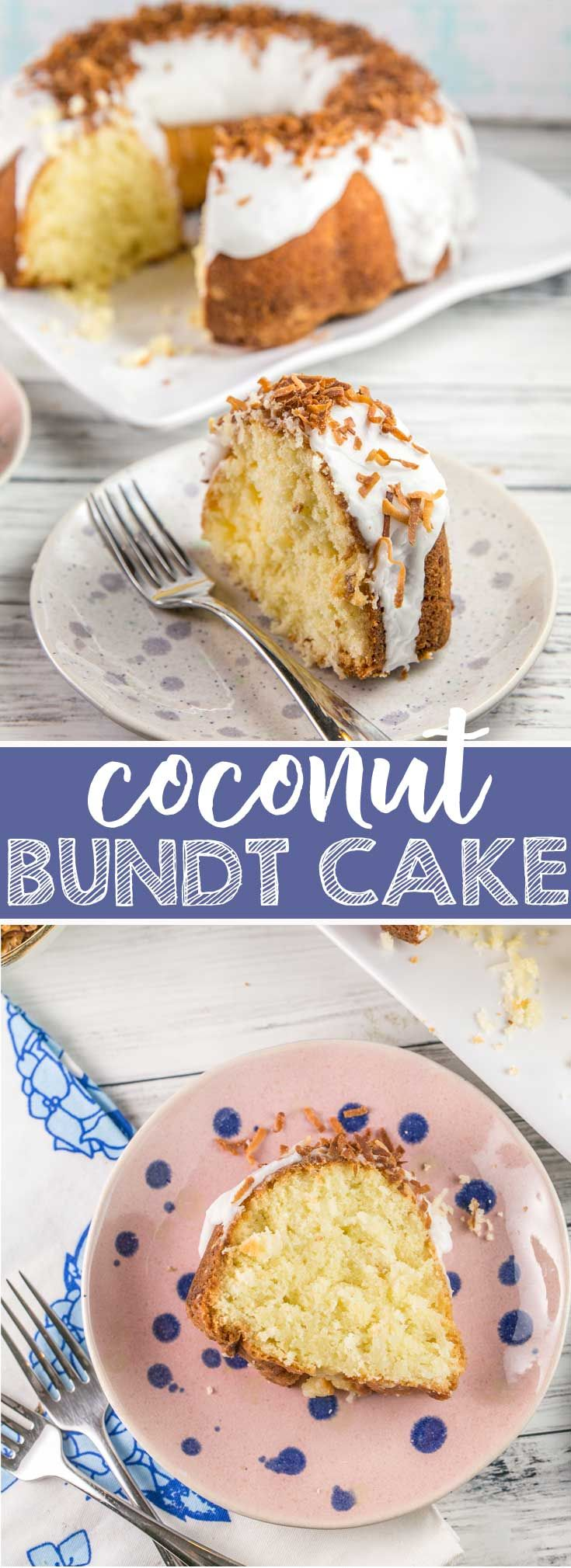 Coconut Bundt Cake: an exceptionally moist triple-coconut cake (coconut milk, coconut extract, and shredded coconut) topped with a coconut glaze and toasted coconut.  Outrageously delicious! {Bunsen Burner Bakery} #coconutcake #bundtcake #coconut via @bnsnbrnrbakery