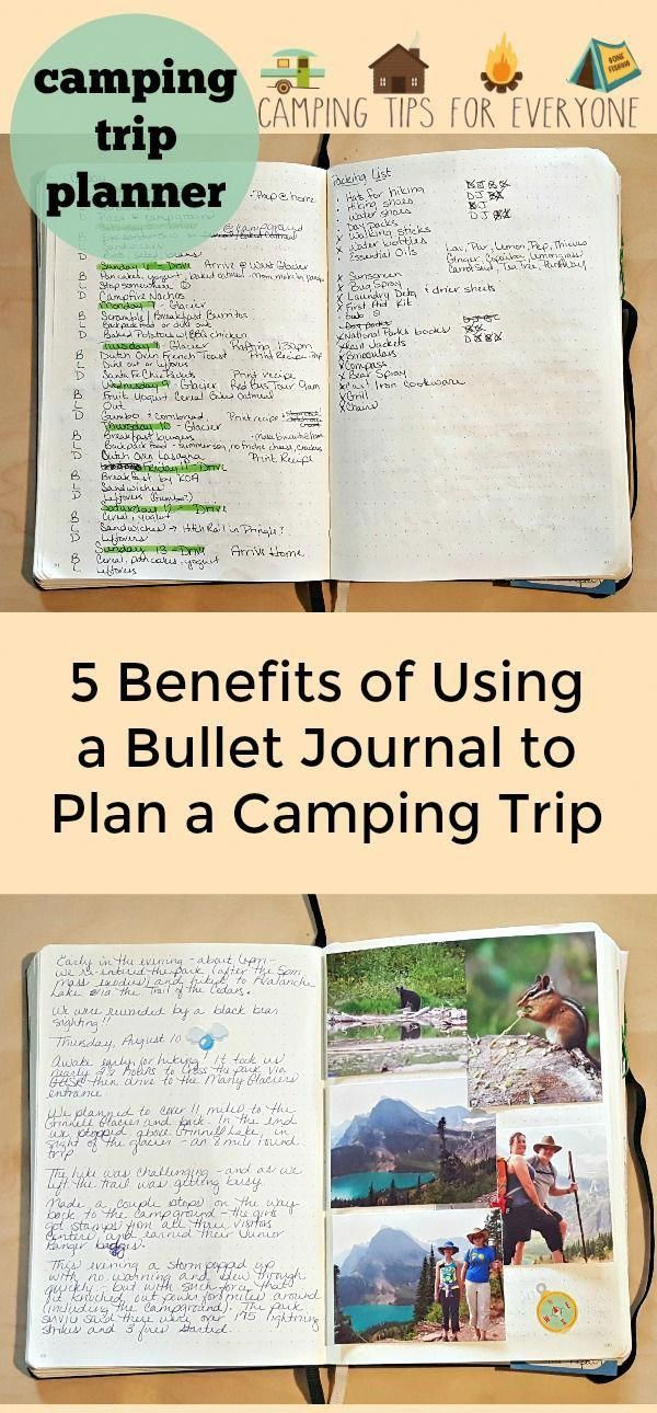 bullet journal camping trip planner how to use a bullet journal to