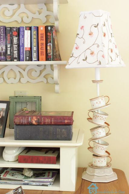 Pretty teacup lamp - A Charming Cottage