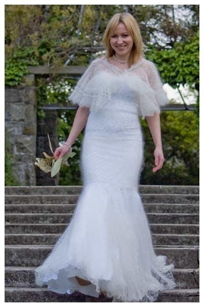 Knitted wedding gown by JThandicrafts on Etsy, $2000.00