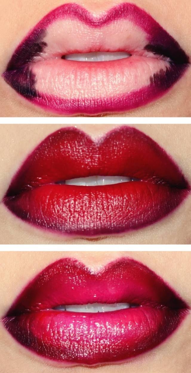 Ombre Lippen schminken in drei Schritten