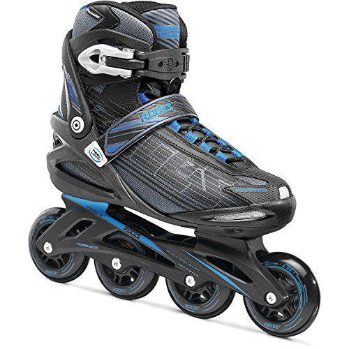 Racing Skates - Roces Mens Stripes Fitness Inline Skates Blades BlackBlue 400798 0000112 ** Visit the image link more details.