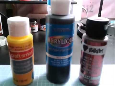 Make your own air brush paint for 54 cents (easy to make) - YouTube
