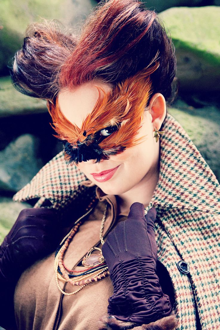 Lady Fox Mask Mask created by Alisa Ann Tetreault Clothing: Most Everything Vintage Model: Chelsea Ann Photographer: May Faith Photographer Hair: Ashley Rauch MUA: Kandie Smith  #fox #foxmask #ladyfox #foxylady #foxphotograph #creativefox #animalmask #creativeanimalmasks #creativephotography #vancouverwashington