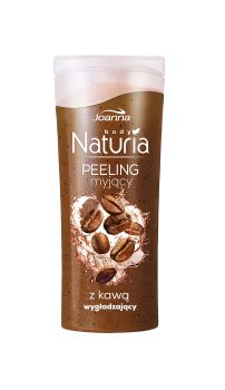 Peeling myjący do ciała z kawą Naturia body. Skóra jest odświeżona i oczyszczona, gładka i miła w dotyku oraz przyjemnie pachnąca.