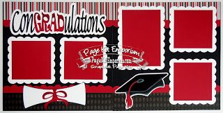 BLJ Graves Studio: ConGRADulations School Graduation Scrapbook Page Kits #scrapbookkits