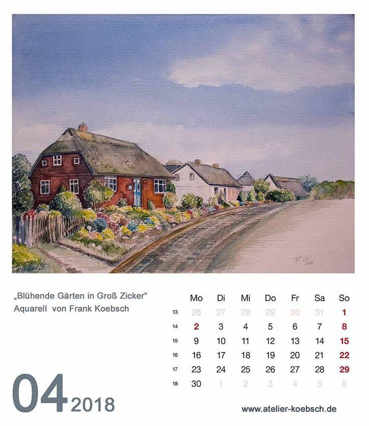 kalender 2018 mit einer auswahl unserer aquarelle. Black Bedroom Furniture Sets. Home Design Ideas