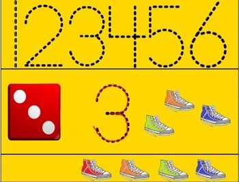 Counting Pete the Cat's Shoes-Recognizing Numbers 1-6- Free SMART Notebook Game