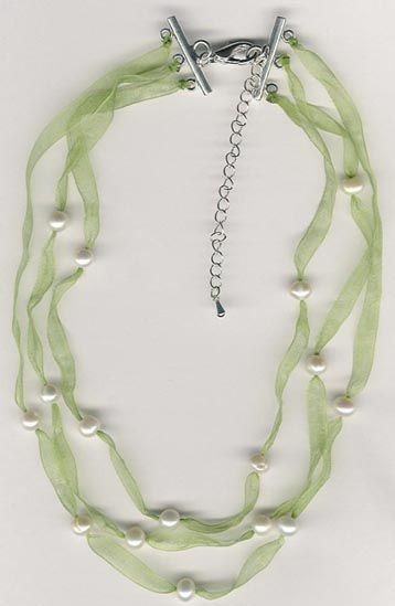 Pearl and Ribbon Jewelry