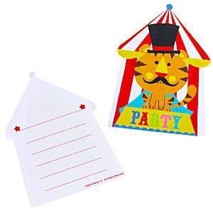 Circus Invitations and Envelopes