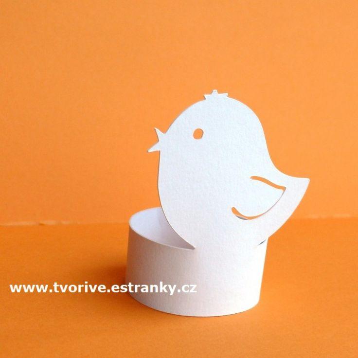 Stránky pro tvořivé - malé i velké - Eshop - Velikonoce - Stojánek na vajíčka kuřátko