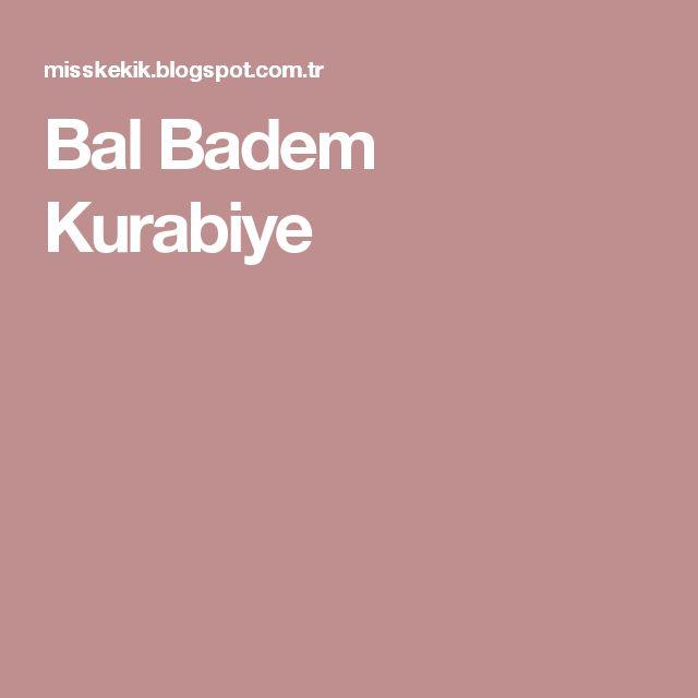 Bal Badem Kurabiye