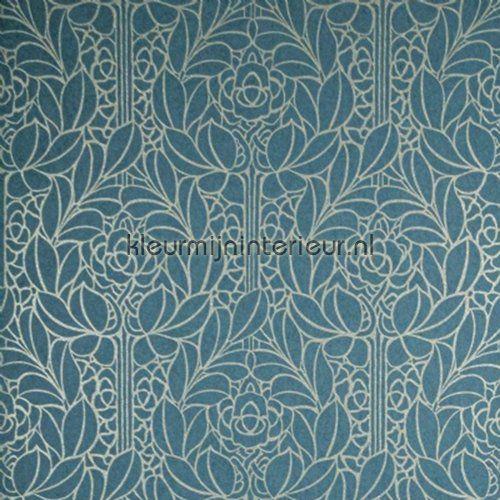 Art nouveau bloemmotief behang LOA1903 uit de collectie Lotus van Arte is verkrijgbaar bij kleurmijninterieur