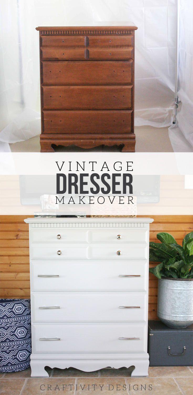 How To Refinish A Vintage Dresser. Dresser MakeoversFurniture MakeoverDiy  FurniturePainted FurnitureModern ...