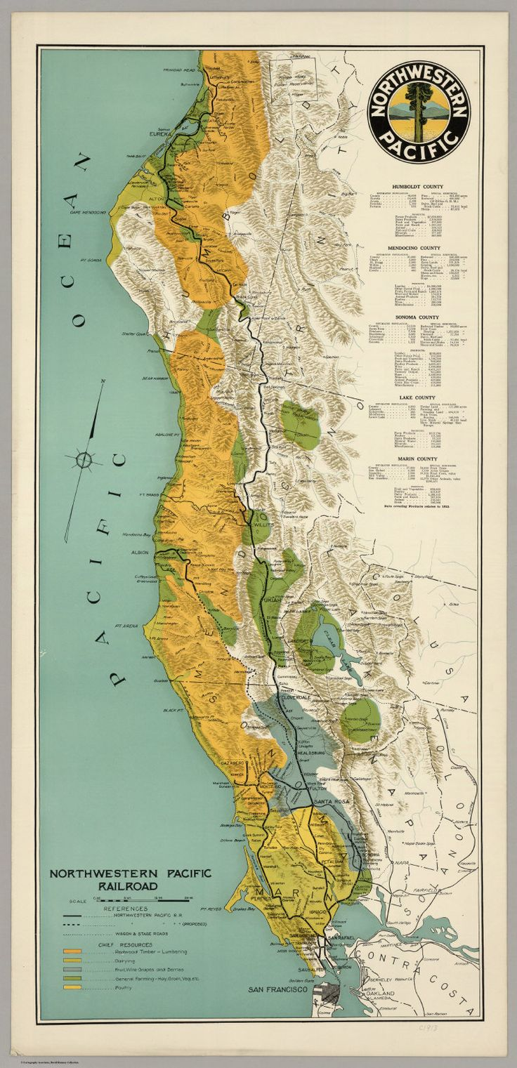 Untitled map of Northern California 122 best