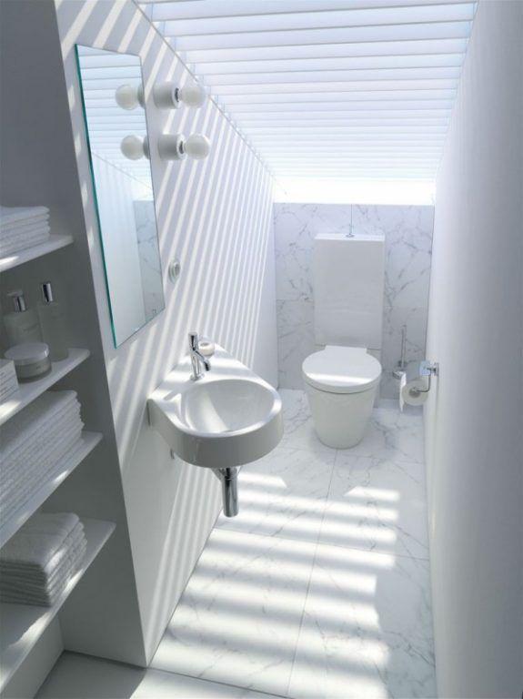 Ideen für ein kleines badezimmer * weißes bad * schmale und ...