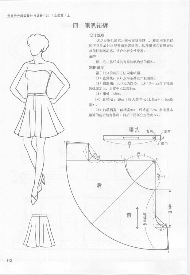 Sewing- Patterns of Pants from Asian Book