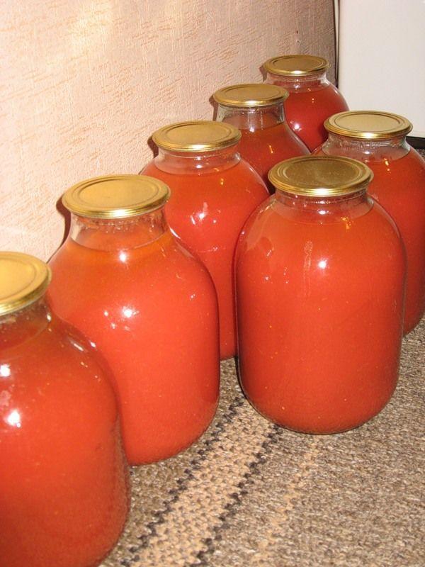 Вкуснейший томатный сок на зиму!