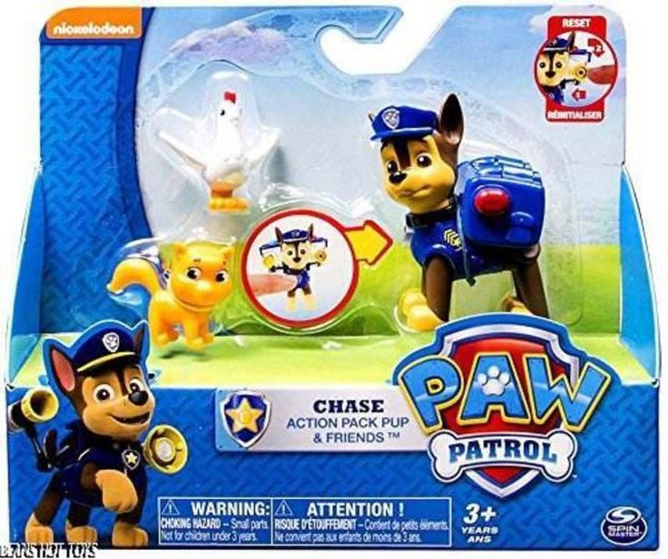 Paw Patrol Figure Action Pack Chase, Itty Bitty Kitty & Chickaletta NEW Release #SpinMaster