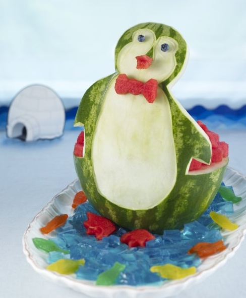 National Watermelon Day Recipes & Crafts- Watermelon Penguin
