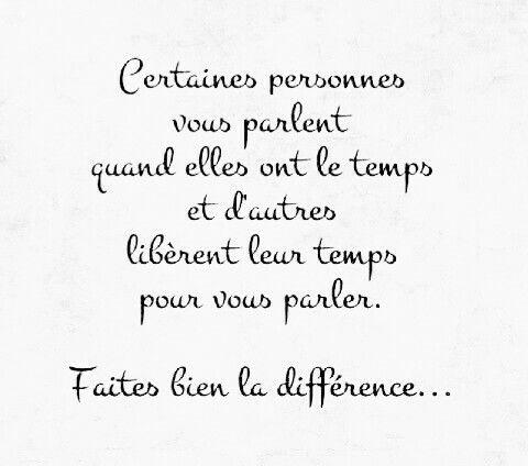 Faites bien la différence..