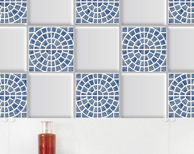 100/% Removable Wall Tiles Spanish Tile stickers PACK OF 12 pcs for kitchen bathroom Backsplash Stairs riser Floor Tiles