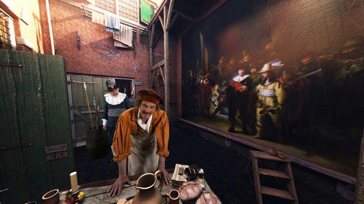"""Het bedrijf ForceField VR heeft een Virtual Reality belevenis ontwikkeld waarbij je een kijkje neemt in het historische atelier van Rembrandt en waar de schilder je persoonlijk te woord staat. Maarten de Jong van Forcefield ziet de VR beleving niet als alternatief voor een museum, maar als """"een andere manier om je te verdiepen in …"""