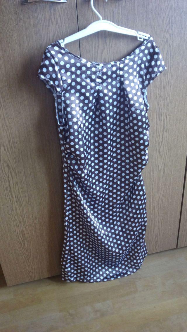 Letní hnědé šaty s bílými puntíky, 170 Kč - bazar, prodej - Módnípeklo.cz