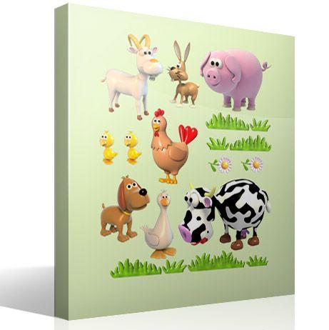 Vinilo infantil Kit Animales de la granja