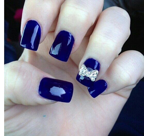 Navy Blue Nails