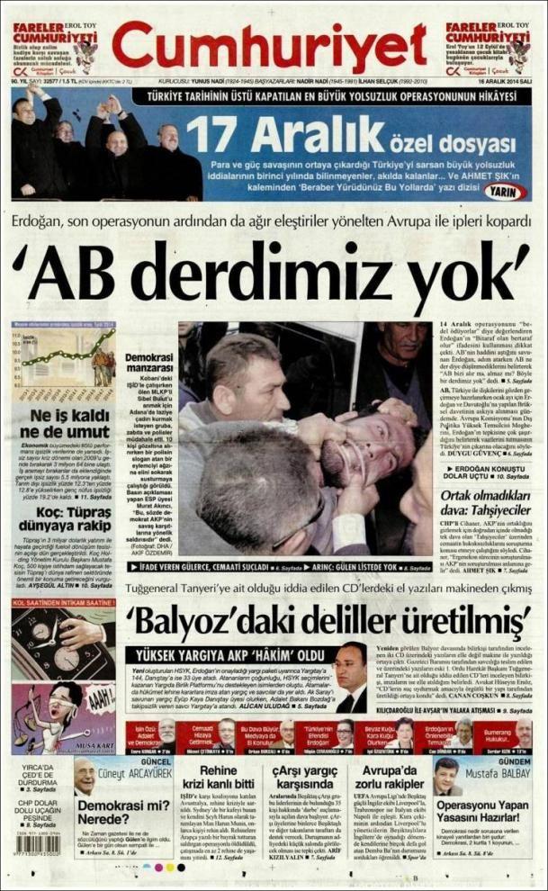 "Crackdown on Turkish media: '""We have a EU problem""'   VoxEurop.eu: European news, cartoons and press reviews"