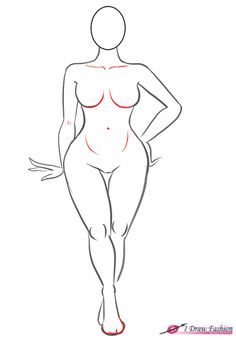 How to draw plus size fashion figure step 9