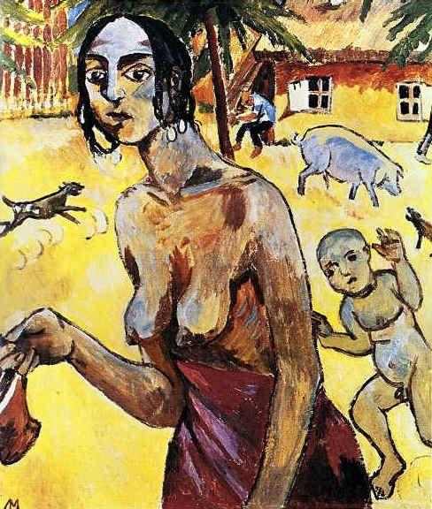 A Gypsy Woman In Tiraspol by Mikhail Larionov
