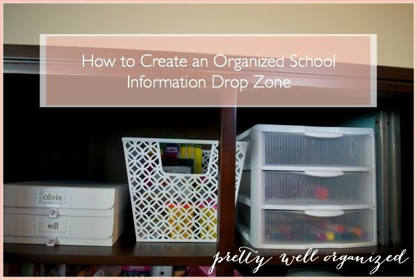 How to create an Organized School Information Drop Zone