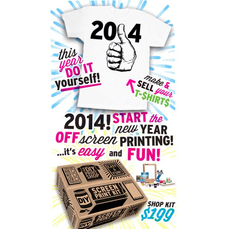 98 best diy kits screen printing images on pinterest arts and this years all about doing it yourself start the new year screen printing and selling your stuff online or local shops keep it diy solutioingenieria Gallery